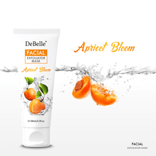 Load image into Gallery viewer, DeBelle 2 in 1 Apricot bloom facial scrub and mask with walnut beads