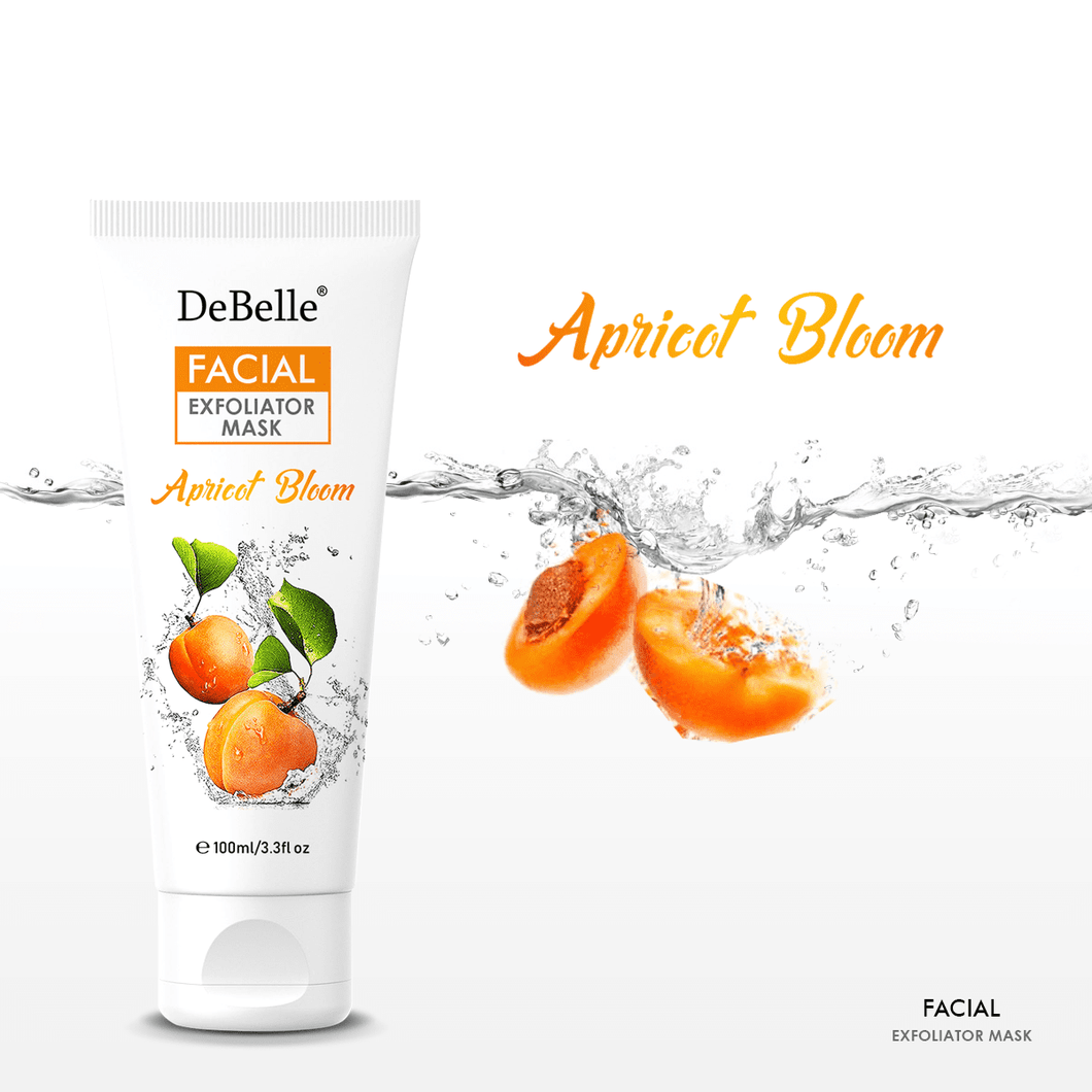 DeBelle 2 in 1 Apricot bloom facial scrub and mask with walnut beads