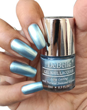 Load image into Gallery viewer, Metallic Light Blue Nail Polish shade