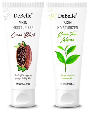 DeBelle Skin Moisturizer Combo Pack of 2 (Cocoa Blush, Green Tea Infusion ) 100 ml each