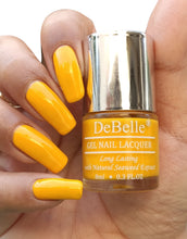 Load image into Gallery viewer, DeBelle Bright Yellow Nail Swatch