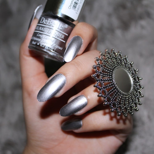 Silver chrome nail polish in india