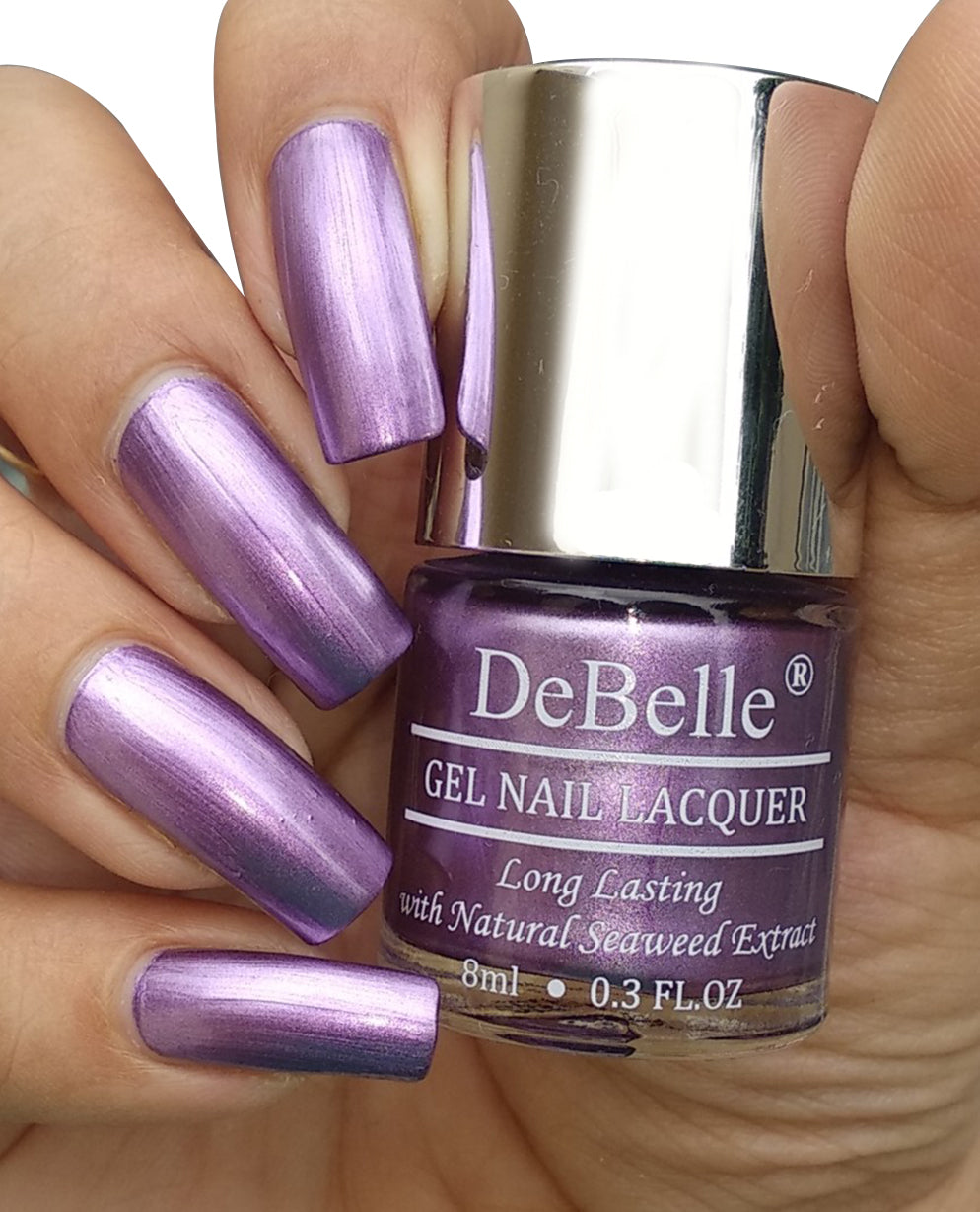 DeBelle Gel Nail Lacquer Chrome Wine (Chrome Purple Nail Polish)