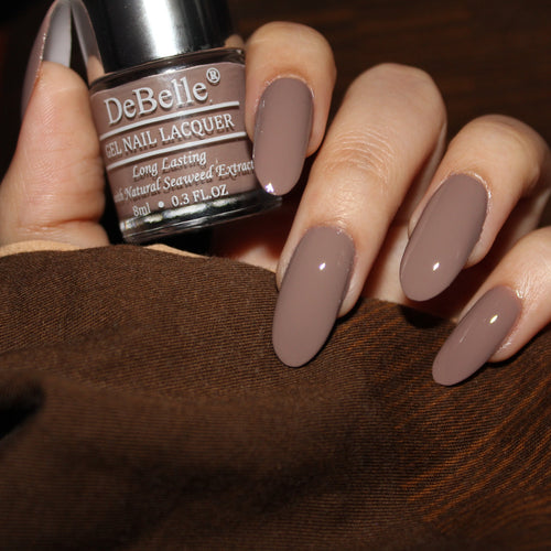 DeBelle Light Brown Nail Swatch