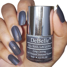 Load image into Gallery viewer, DeBelle Gel Nail Lacquer Copper Glaze - Dark Grey (with Copper Specks)