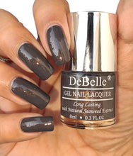 Load image into Gallery viewer, DeBelle Dark Grey Nail Swatch