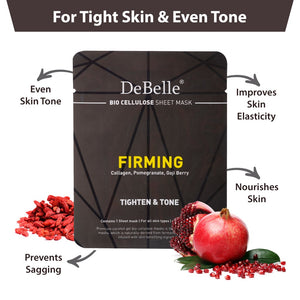 DeBelle Bio Cellulose Sheet Masks Combo of 5