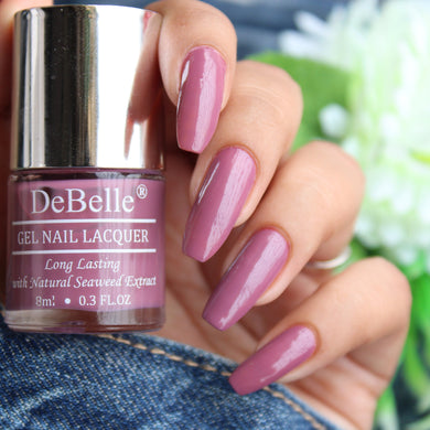 DeBelle Gel Nail Lacquer Laura Aura - (Light Mauve Nail Polish), 8ml