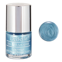 Load image into Gallery viewer, DeBelle Gel Nail Lacquer Aqua Frenzy (Metallic Blue Nail Polish)