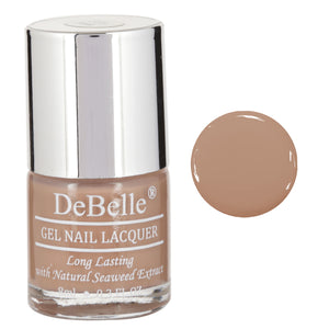 coffee brown light Gel Nail polish for girls