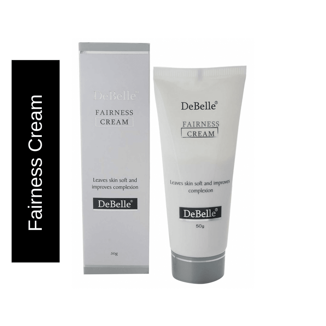 DeBelle natural brightening fairness cream tube and outer box