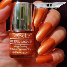 Load image into Gallery viewer, DeBelle Gel Nail Lacquer Aurora - Galaxie Collection copper shimmer nail polish shade india