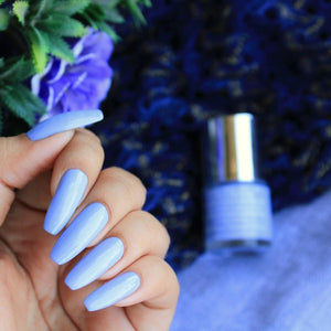 Light pastel purple nail polish shade