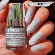 Load image into Gallery viewer, DeBelle Gel Nail Lacquer Estella - Galaxie Collection silver black glitter nail polish
