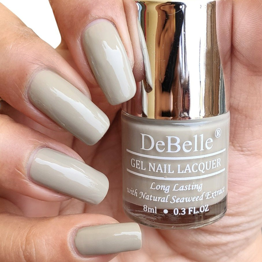 DeBelle Gel Nail Lacquer Moonstone Bloom - Taupe Grey