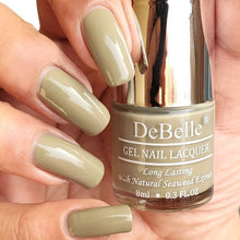 Load image into Gallery viewer, DeBelle Gel Nail Lacquer Pastel Olive Jade - best Olive Green Nail Polish Shade India for women