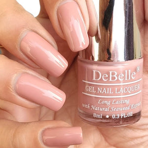 DeBelle Gel Nail Lacquer Rose Aurelia - Pink Mauve nail polish shade in India