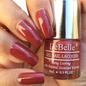 Pastel burgundy nail polish color for women