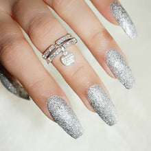 Load image into Gallery viewer, DeBelle best glitter nail polish in India with silver glitters