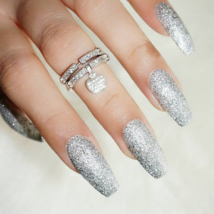 DeBelle best glitter nail polish in India with silver glitters