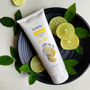 DeBelle Facial Exfoliator Mask (Face Scrub + Mask) - Lime Light (100 ml)