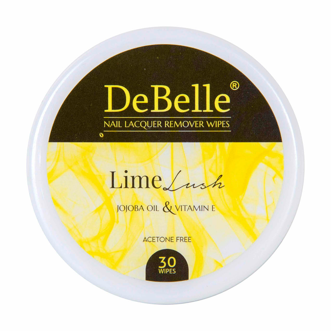 DeBelle nail polish remover wipes lime lush - buy acetone free nail polish remover wipes India online