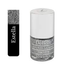 Load image into Gallery viewer, silver black glitter nail polish