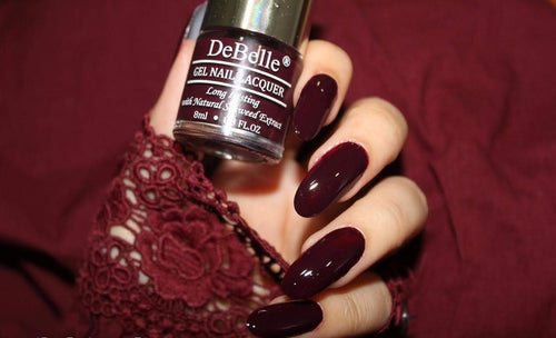 DeBelle Dark Maroon Nail Polish Swatch