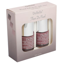 Load image into Gallery viewer, DeBelle Nail Lacquer set Fleur De Pearl gift pack of 2 Majestique Mauve , Laura Aura - 8 ml each