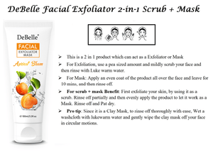 Debelle apricot scrub exfoliator application instructions