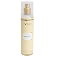 Load image into Gallery viewer, A 135 ml bottle of DeBelle Fine Fragrance Body Mist Madeline - Floral Body Mist