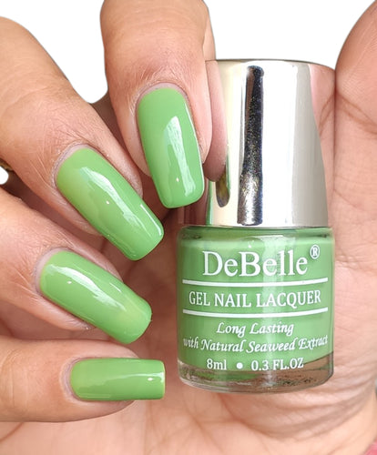DeBelle Pastel Green Nail Polish Swatch