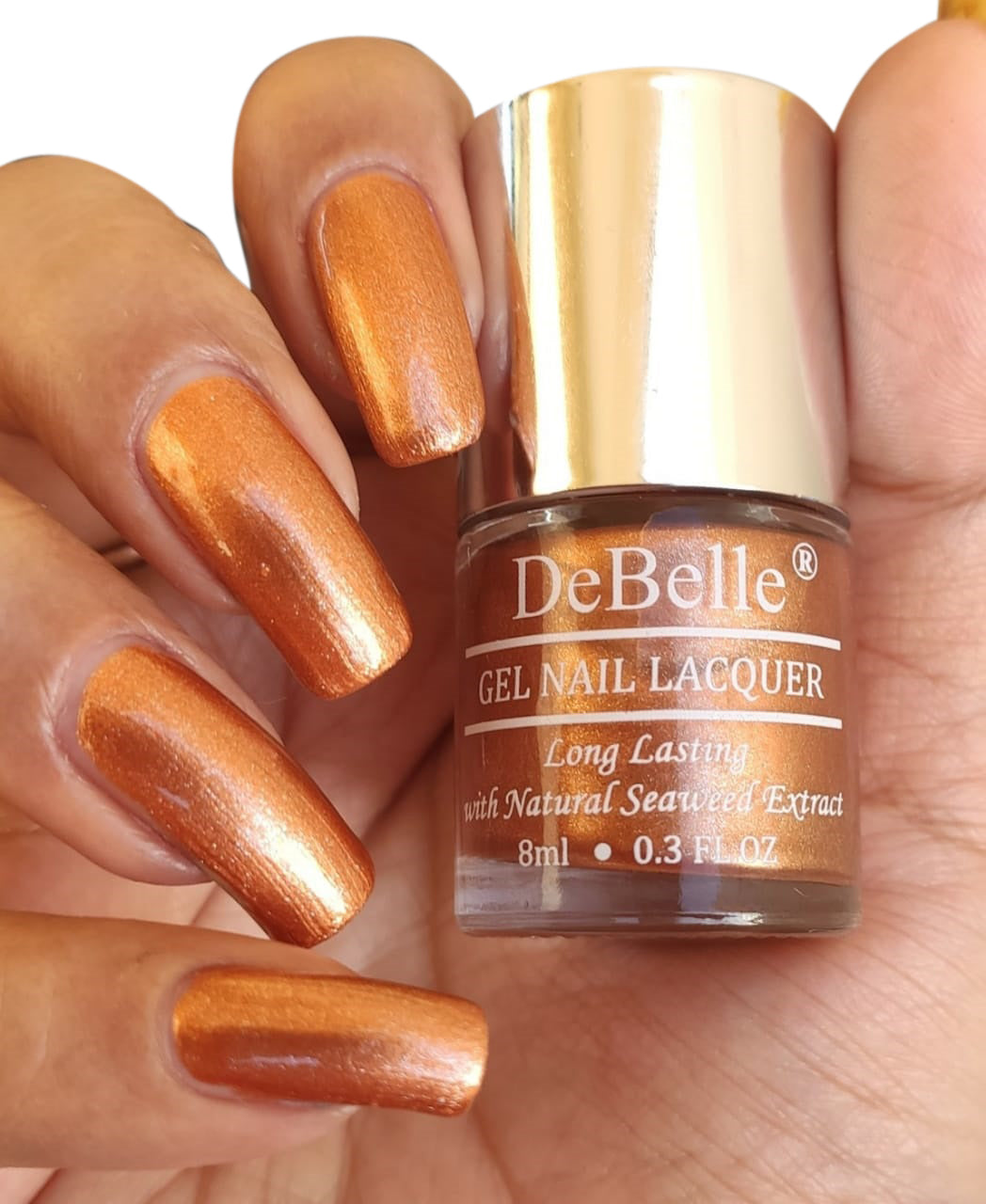 DeBelle Rose Gold Copper Nail Polish Swatch