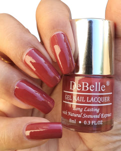 DeBelle Pastel Burgundy Nail Swatch