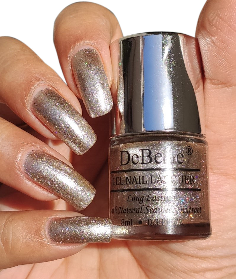 DeBelle holo sparkle nail swatch