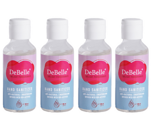 DeBelle Hand Sanitizer combo pack of 4  - Twilight Pomegranate (100 ml each)