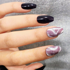 Beautiful marble nail art design