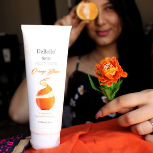 DeBelle orange blaze skin natural moisturizer for sensitive skin India