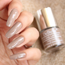 Load image into Gallery viewer, light brown nude nail polish shade for Indian skintone