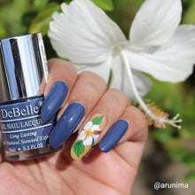 Load image into Gallery viewer, Navy blue nail art design inspiration floral
