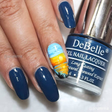 Load image into Gallery viewer, Navy blue sunset nail art design inspiration online