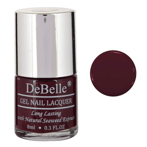 Dark maroon nail paint for girls