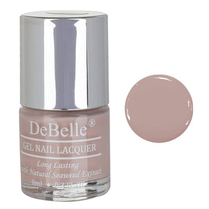 DeBelle Gel Nail lacquer Light Pink nail polish-8 ml Peony Blossom