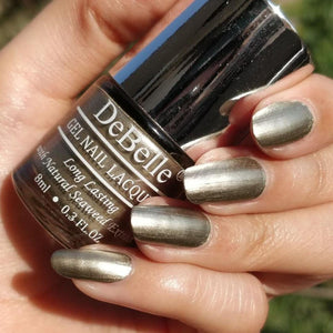 DeBelle Gel Nail Lacquer Rustique Gold (Metallic Gold Nail Polish ...