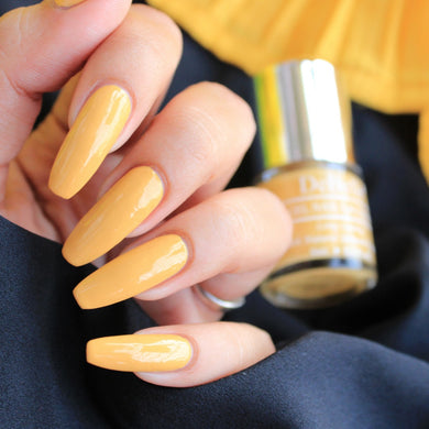 Muted yellow nail polish color for women