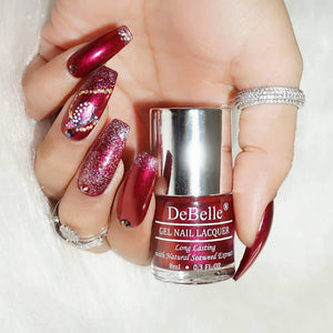 deep maroon nail art inspiration for Indian bride