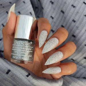estella silver black glitter nail polish india - sugar matte finish nail polish india