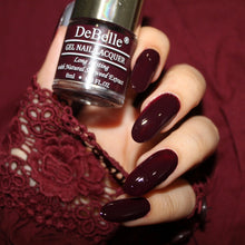 Load image into Gallery viewer, DeBelle Gel Nail Lacquer Glamorous Garnet - Deep Maroon