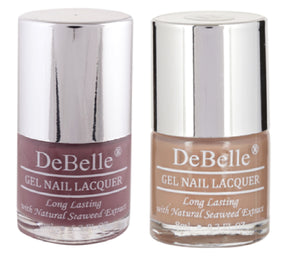 DeBelle Gel Nail Lacquer Majestique Mauve & Coco Bean 8 ml pack of 2 - Debelle shop