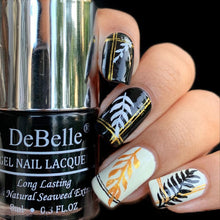 Load image into Gallery viewer, Gold and Black nail art design inspiration